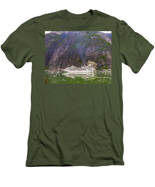 Tracy Arm Fjord Men's T-Shirt (Slim Fit) by Jim Mathis