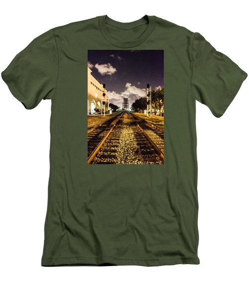 Train Tracks Men's T-Shirt (Athletic Fit)