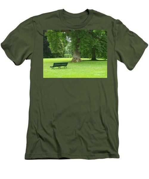 Men's T-Shirt (Slim Fit) featuring the photograph Tranquil Space by Mary Mikawoz