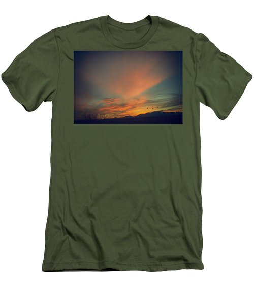 Tranquil Sunset Men's T-Shirt (Slim Fit) by Barbara Manis