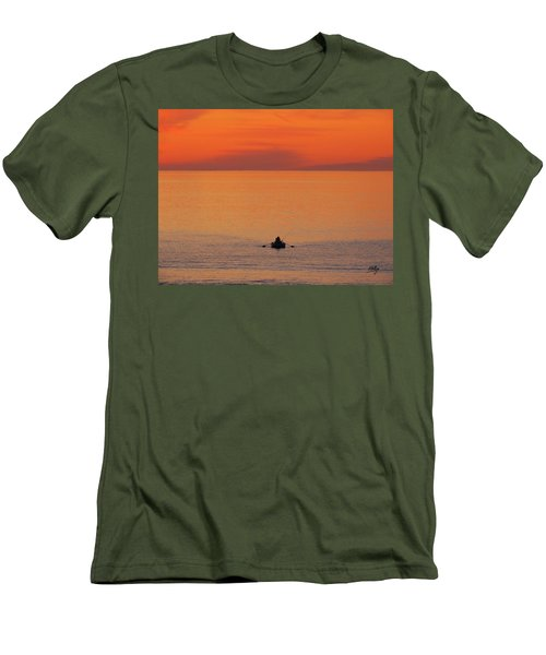 Men's T-Shirt (Slim Fit) featuring the photograph Tranquililty by Linda Hollis