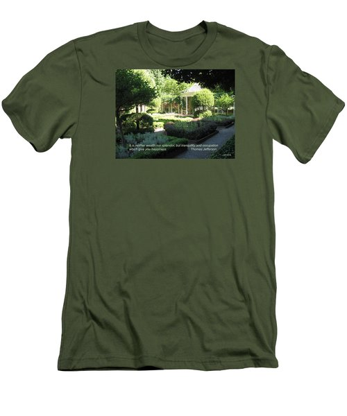 Tranquility And Occupation Men's T-Shirt (Slim Fit) by Deborah Dendler