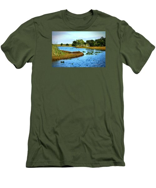 Tranquility... Men's T-Shirt (Slim Fit) by Edgar Torres
