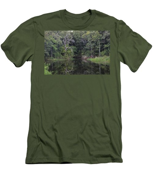 Men's T-Shirt (Athletic Fit) featuring the photograph Tranquility by Sheila Brown