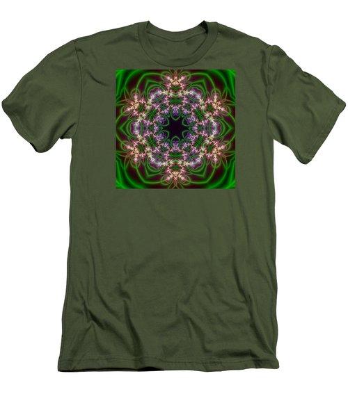 Transition Flower 6 Beats Men's T-Shirt (Slim Fit) by Robert Thalmeier