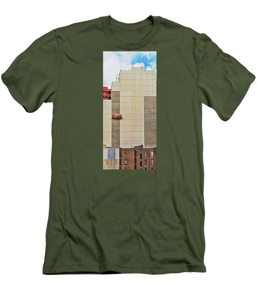 Men's T-Shirt (Slim Fit) featuring the photograph Transition From Old To New In New York by Gary Slawsky
