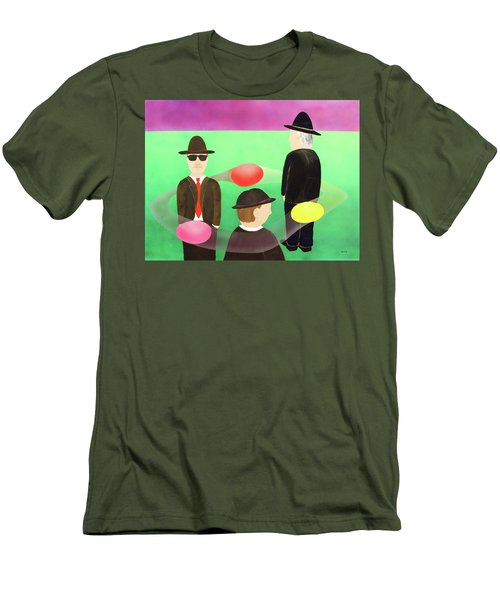 Men's T-Shirt (Slim Fit) featuring the painting Traveling In The Right Business Circles by Thomas Blood