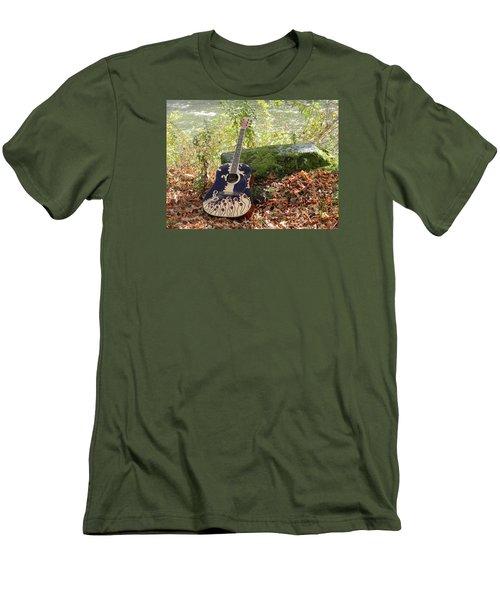Traveling Musician Men's T-Shirt (Slim Fit) by Krys Whitney