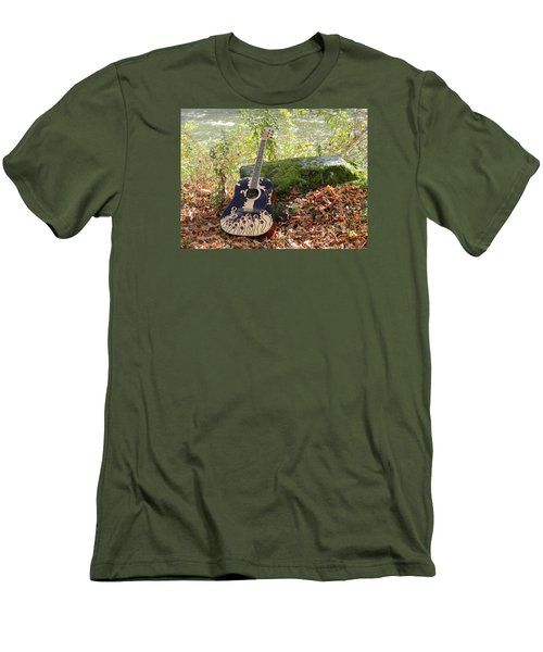 Traveling Musician Men's T-Shirt (Athletic Fit)