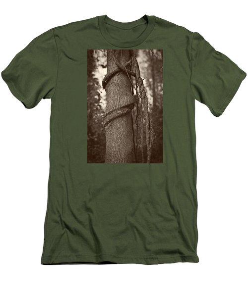 Tree 5 Men's T-Shirt (Slim Fit) by Simone Ochrym