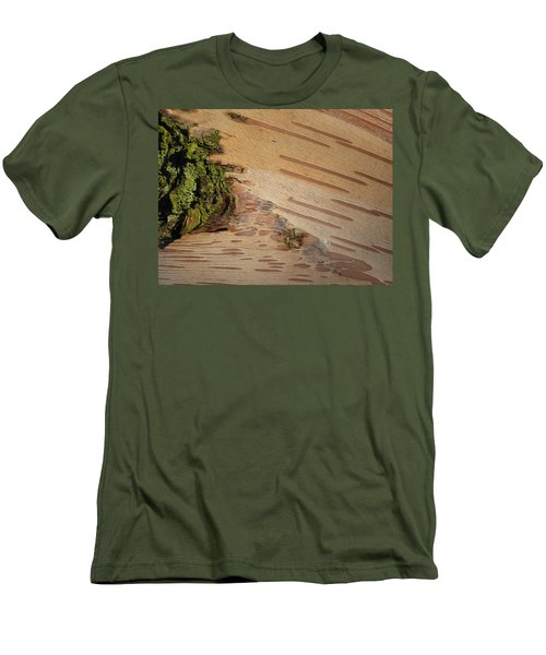 Tree Bark With Lichen Men's T-Shirt (Slim Fit) by Margaret Brooks