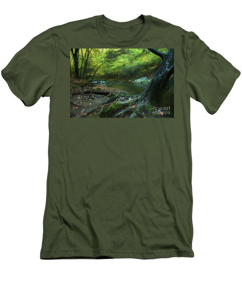 Tree By Water Men's T-Shirt (Slim Fit) by Lena Auxier