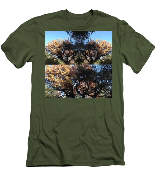 Men's T-Shirt (Slim Fit) featuring the photograph Tree Chandelier by Nora Boghossian