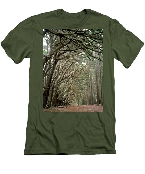 Tree Lane Men's T-Shirt (Slim Fit) by Art Shimamura