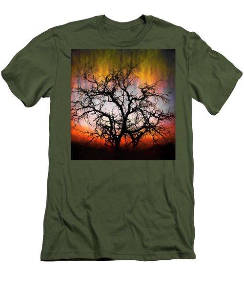 Tree Of Fire Men's T-Shirt (Slim Fit)