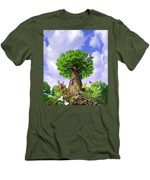 Tree Of Life Men's T-Shirt (Slim Fit) by Jerry LoFaro