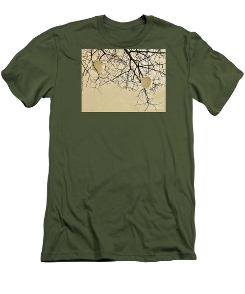 Tree Orbs Men's T-Shirt (Slim Fit) by Reb Frost