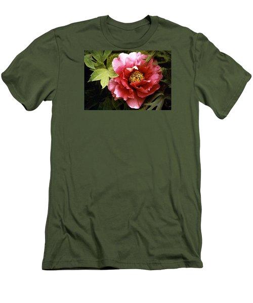 Tree Peony Men's T-Shirt (Slim Fit) by Janis Nussbaum Senungetuk
