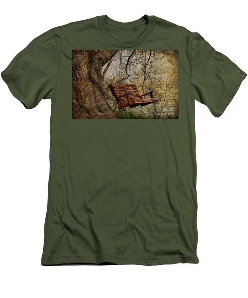Tree Swing By The Lake Men's T-Shirt (Slim Fit) by Deborah Benoit