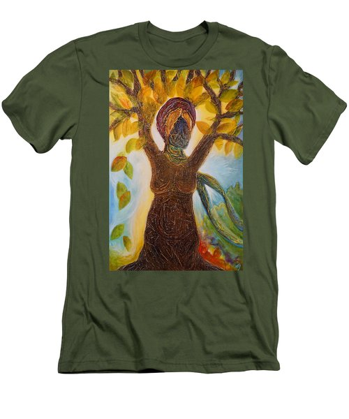 Tree Woman Men's T-Shirt (Athletic Fit)