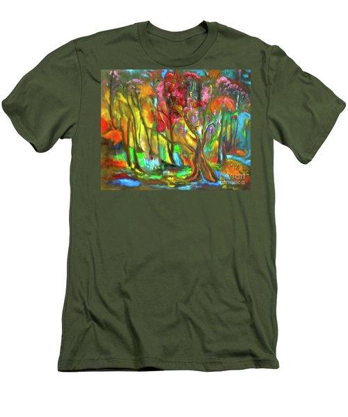 Trees Men's T-Shirt (Slim Fit) by Jenny Lee