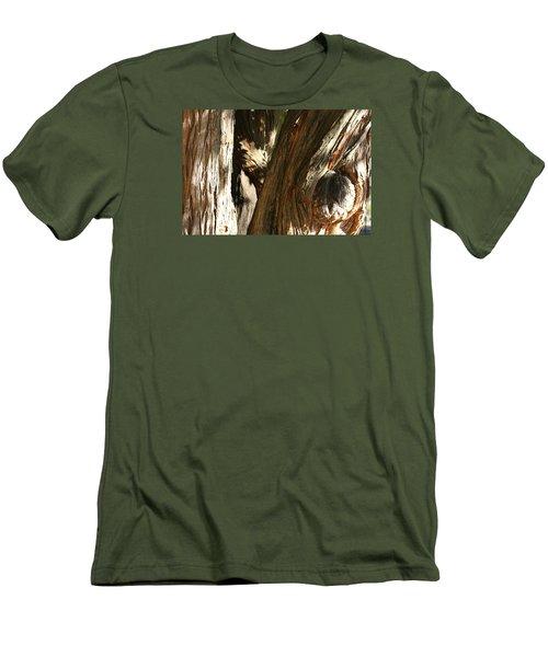 Trees Trunks Men's T-Shirt (Slim Fit) by Michele Wilson