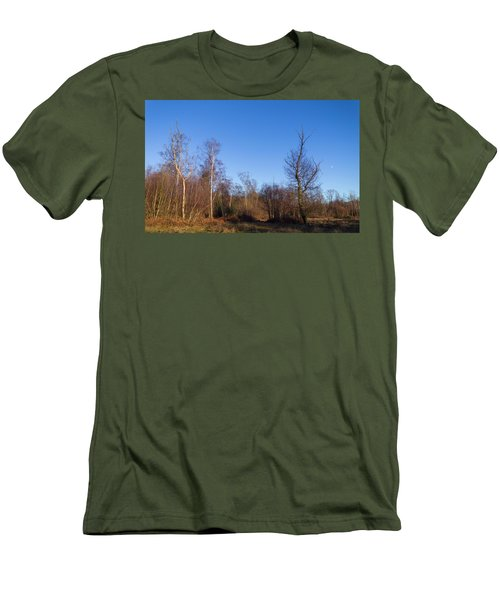 Trees With The Moon Men's T-Shirt (Athletic Fit)