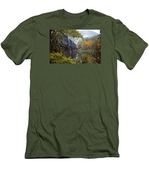 Trestle In Autumn Men's T-Shirt (Athletic Fit)