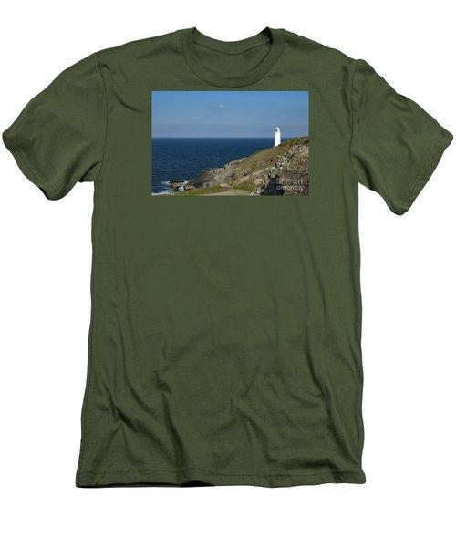 Trevose Head Lighthouse Men's T-Shirt (Slim Fit) by Brian Roscorla