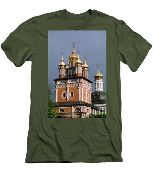 Trinity Lavra Of St. Sergius Monastery Sergiev Posad Zagorsk Men's T-Shirt (Slim Fit) by Wernher Krutein