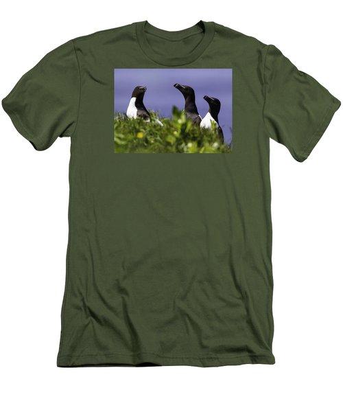 Trio Men's T-Shirt (Slim Fit) by Marie Elise Mathieu