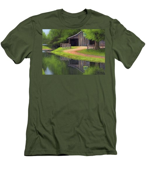 Men's T-Shirt (Slim Fit) featuring the painting Triple L Ranch  by Janet King