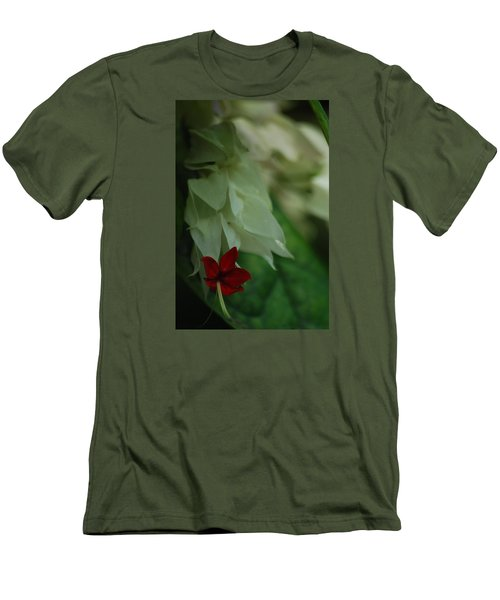 Men's T-Shirt (Slim Fit) featuring the photograph Tropical Bleeding Heart by Ramona Whiteaker