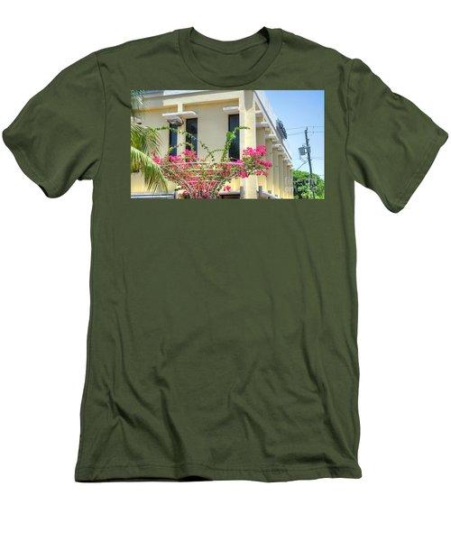 Tropical Bougainvillea Men's T-Shirt (Athletic Fit)