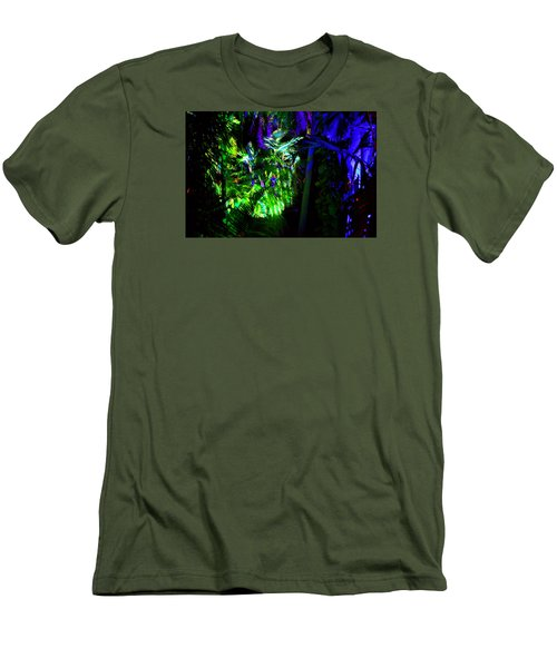 Men's T-Shirt (Slim Fit) featuring the photograph Into The Psychedelic Jungle by Richard Ortolano