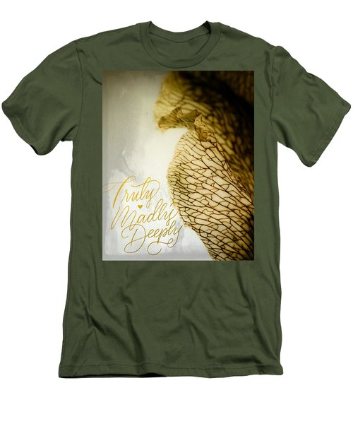 Truly Madly Deeply Men's T-Shirt (Slim Fit) by Bobby Villapando