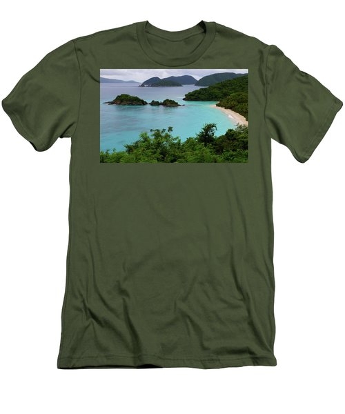 Men's T-Shirt (Slim Fit) featuring the photograph Trunk Bay At U.s. Virgin Islands National Park by Jetson Nguyen