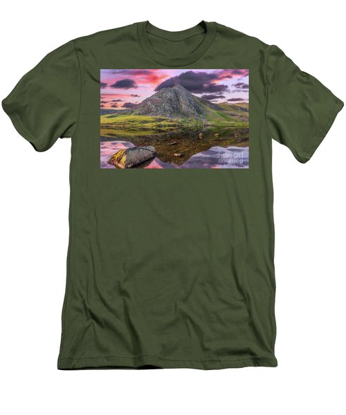 Men's T-Shirt (Slim Fit) featuring the photograph Tryfan Mountain Sunset by Adrian Evans