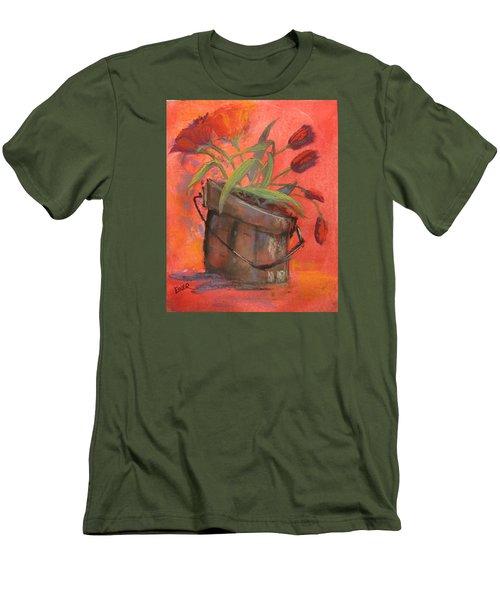 Tulip Bucket Men's T-Shirt (Slim Fit) by Terri Einer