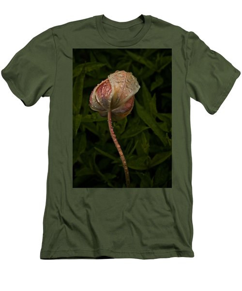 Men's T-Shirt (Slim Fit) featuring the photograph Tulip Tear Drops by Richard Cummings