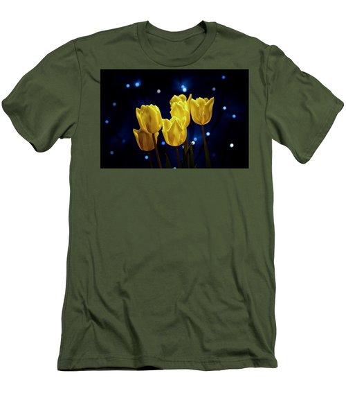 Men's T-Shirt (Slim Fit) featuring the photograph Tulip Twinkle by Tom Mc Nemar