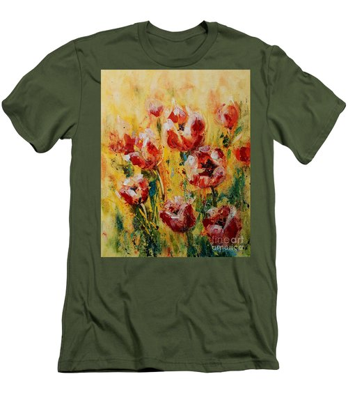 Tulip Waltz Men's T-Shirt (Athletic Fit)