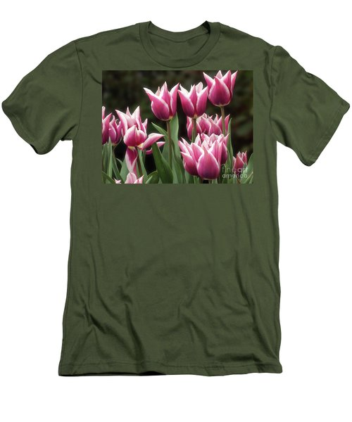 Tulips Bed  Men's T-Shirt (Athletic Fit)