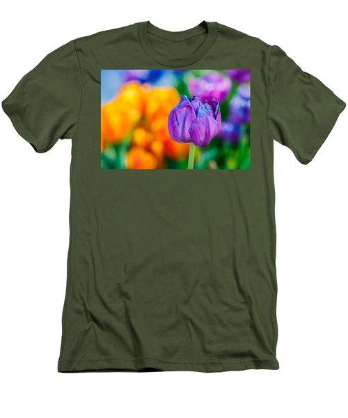 Men's T-Shirt (Slim Fit) featuring the photograph Tulips Enchanting 46 by Alexander Senin