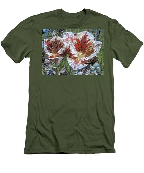 Tulips In Springtime Photomosaic Men's T-Shirt (Athletic Fit)
