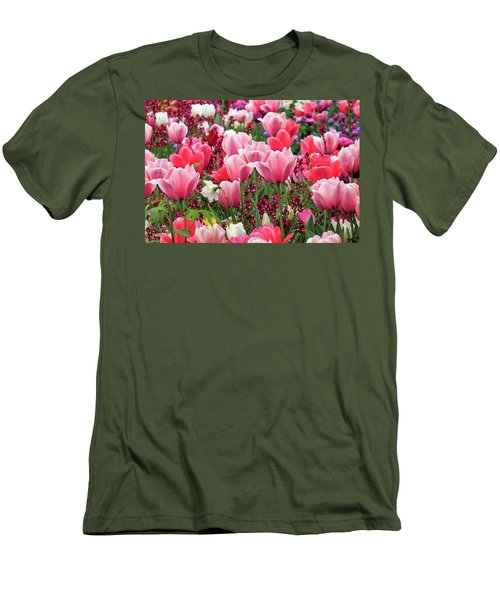 Men's T-Shirt (Athletic Fit) featuring the photograph Tulips by James Eddy
