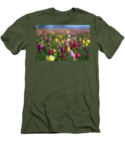 Men's T-Shirt (Slim Fit) featuring the photograph Tulips by William Lee