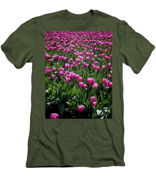 Purple Tulips Men's T-Shirt (Athletic Fit)