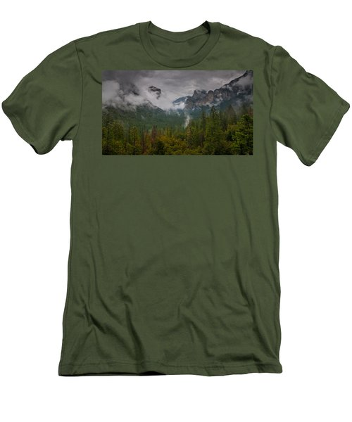 Tunnel View Men's T-Shirt (Slim Fit) by Ralph Vazquez