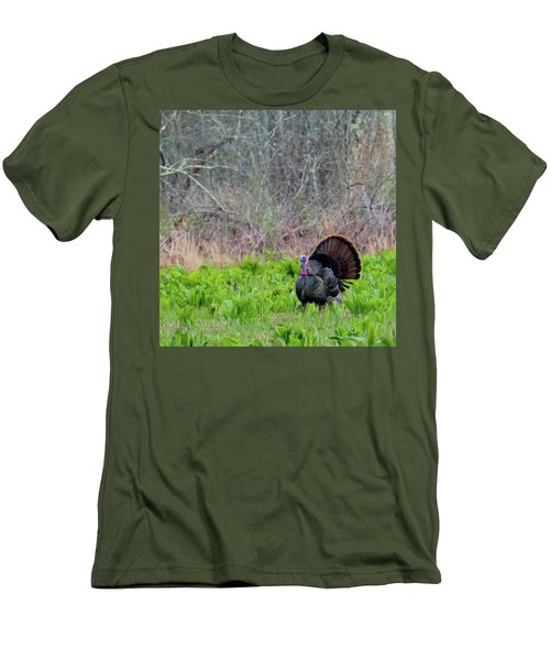 Men's T-Shirt (Slim Fit) featuring the photograph Turkey And Cabbage Square by Bill Wakeley